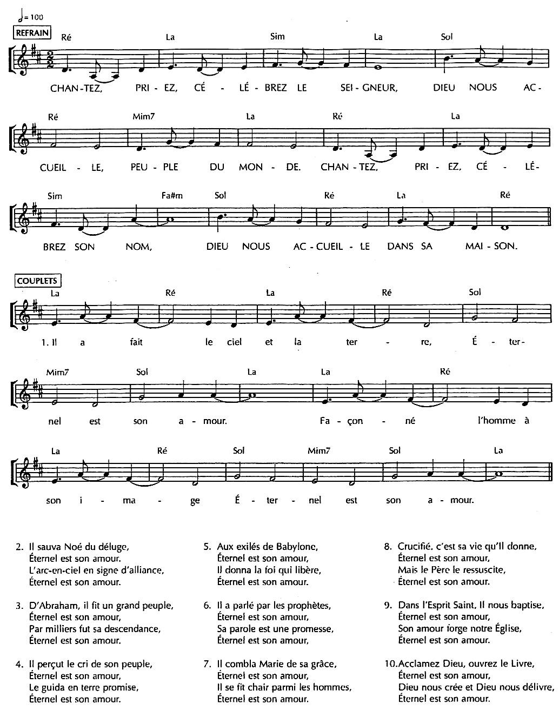 chantez priez celebrez le seigneur